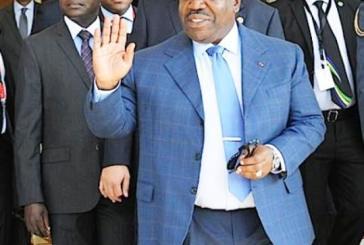 Ali Bongo au palais de l'Élysée le 14 septembre