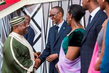 Ali Bongo à l'investiture de son ami Paul Kagamé