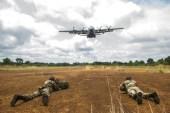 Des militaires belges en pleine démonstration de force au Gabon