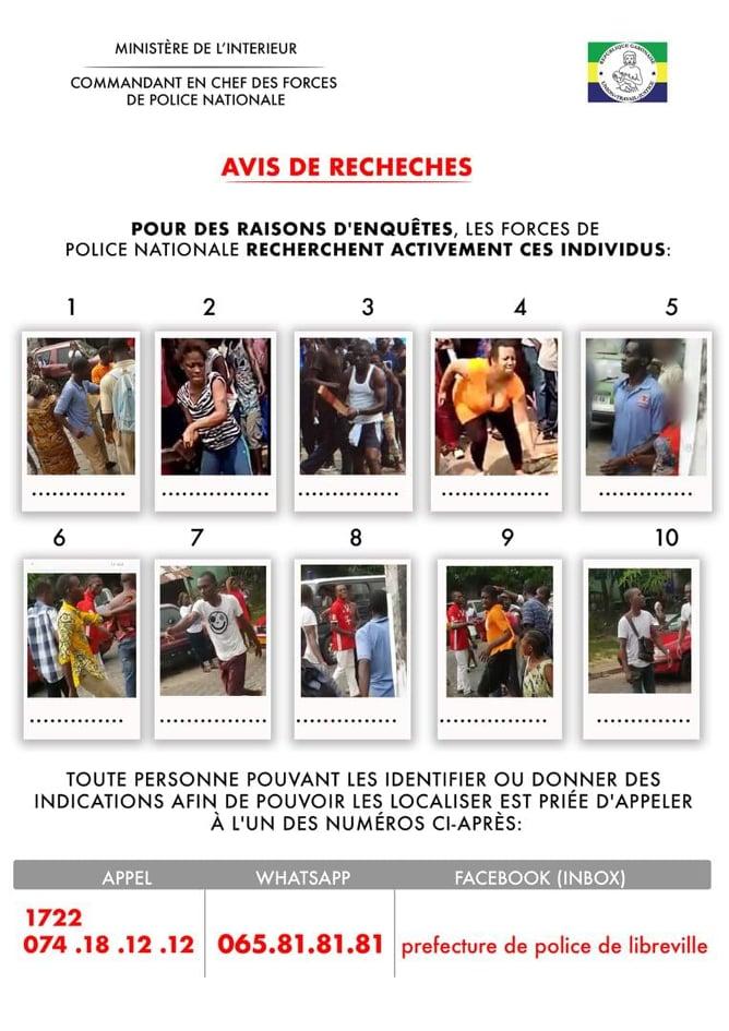 La police gabonaise lance une série de wanted