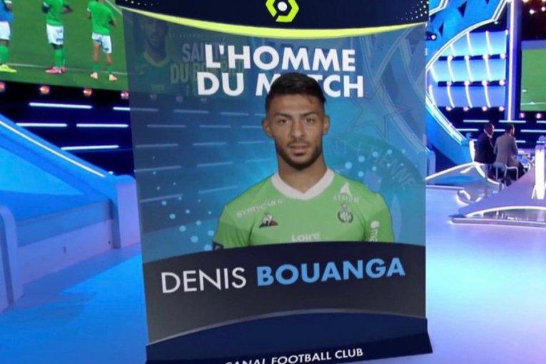Denis Bouanga élu homme du match samedi contre Strasbourg