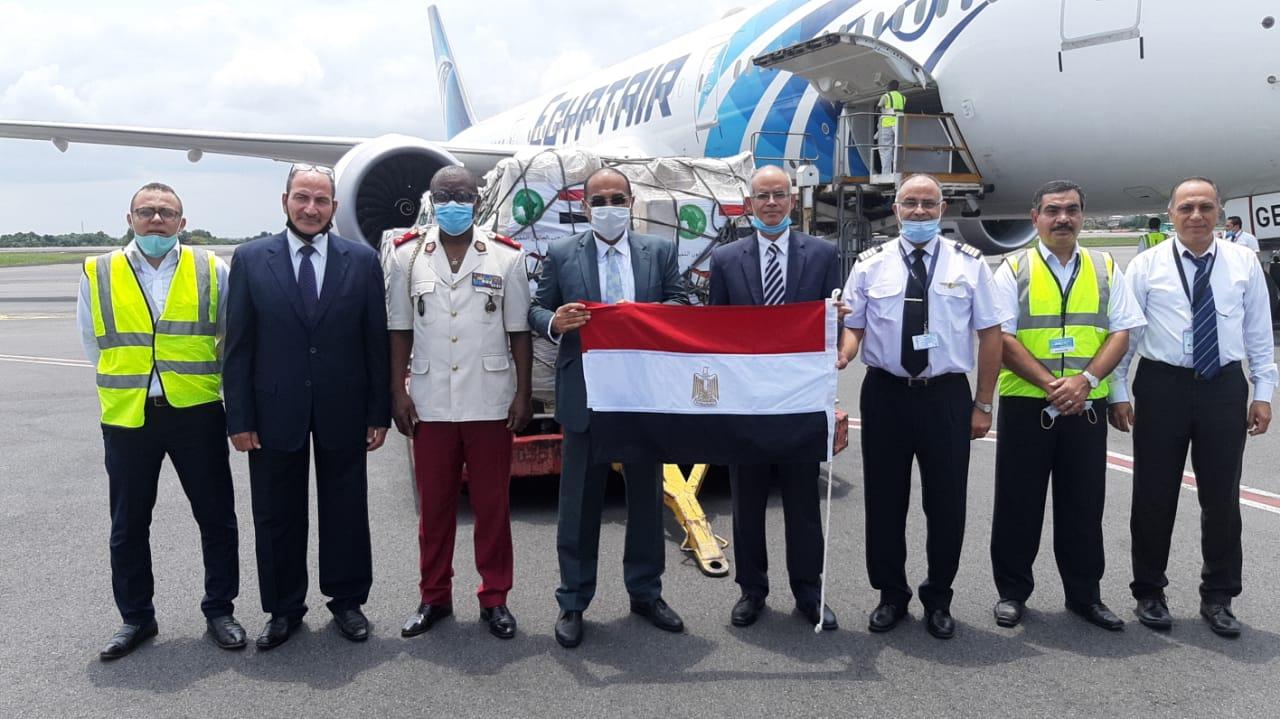 Le Président Égyptien offre un important lot de matériel médical au COPIL pour faire face à la Covid-19