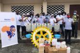 Lutte contre le Covid-19: des produits désinfectant de Rotary Club Libreville Bantou à 5 établissements scolaires de Libreville