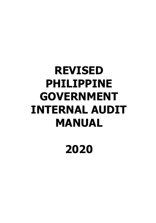 [Update] Revised Philippine Government Internal Audit