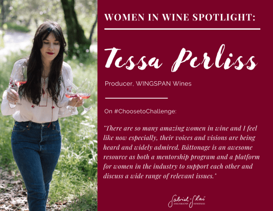 Tessa Perliss, Producer, WINGSPAN Wines
