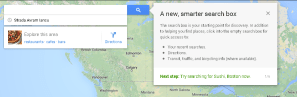 The New Look Of Google Maps – Search Box