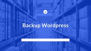 Cum fac backup unui website wordpress