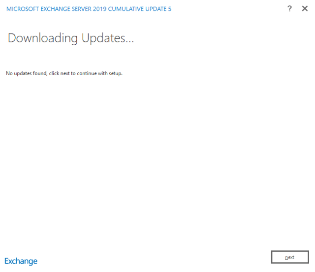 Exchange 2019 installation 02