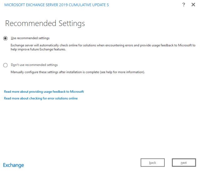 Exchange 2019 installation 06