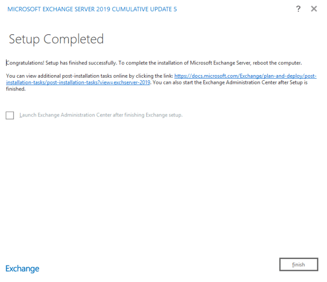 Exchange 2019 installation 12
