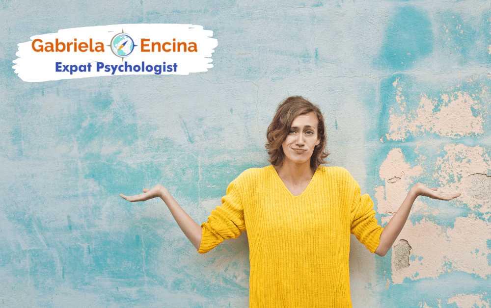 comparing to other expats -woman doubting - Gabriela Encina Expat Psychologist