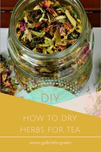 DIY: How to dry herbs for tea | Gabriela Green | www.gabriela.green