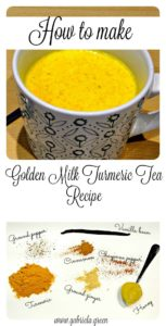 The easiest recipe to prepare golden milk. This is known to be a strong anti-inflammatory drink thanks to its main ingredient: turmeric. | www.gabriela.green