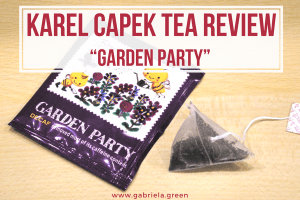 "Karel Capek Tea Review – The Tasty ""Garden Party"" www.gabriela.green"