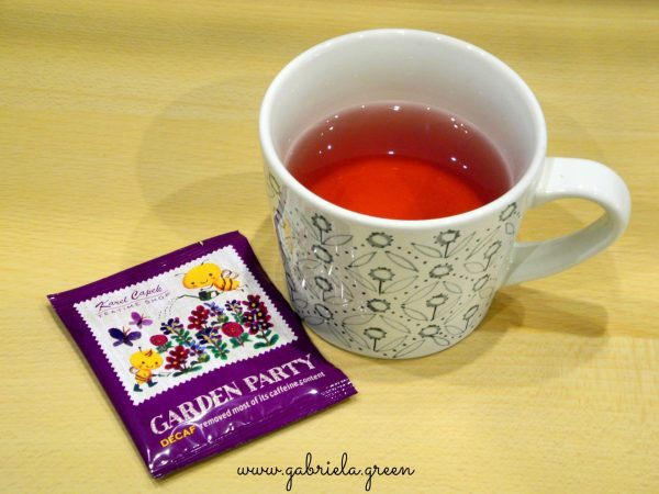 Karel Capek tea review | Garden Party tea cup | Gabriela Green blog
