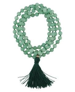 mala beads green aventurine