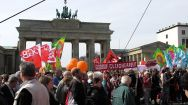 Equal Pay Day vor dem Brandenburger Tor