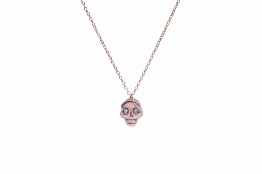 rose gold skull pendant
