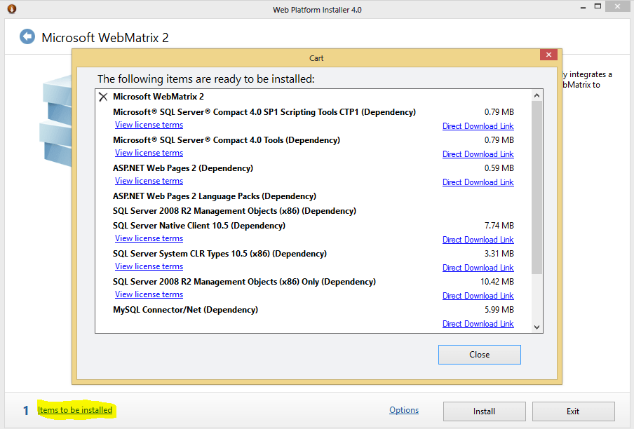 Microsoft webmatrix download.