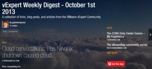 vExpert Weekly Digest, October 1st 2013