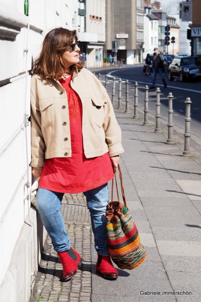 Gabriele immerschön.: Outfit of the day - Farben_Froh