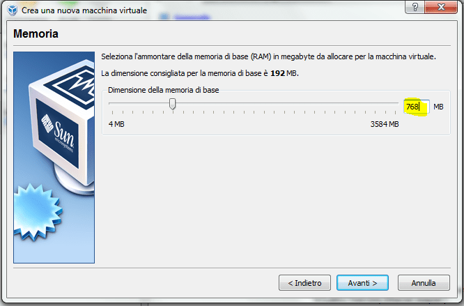 installare windows xp su virtual box (2/6)