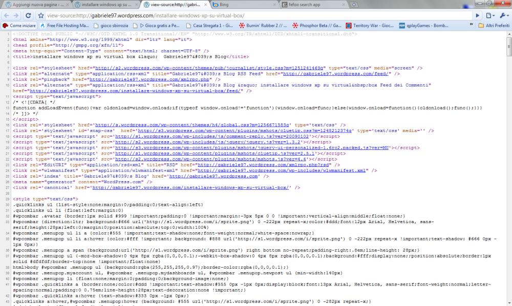 vedere la sorgente HTML di una pagina Web (2/6)