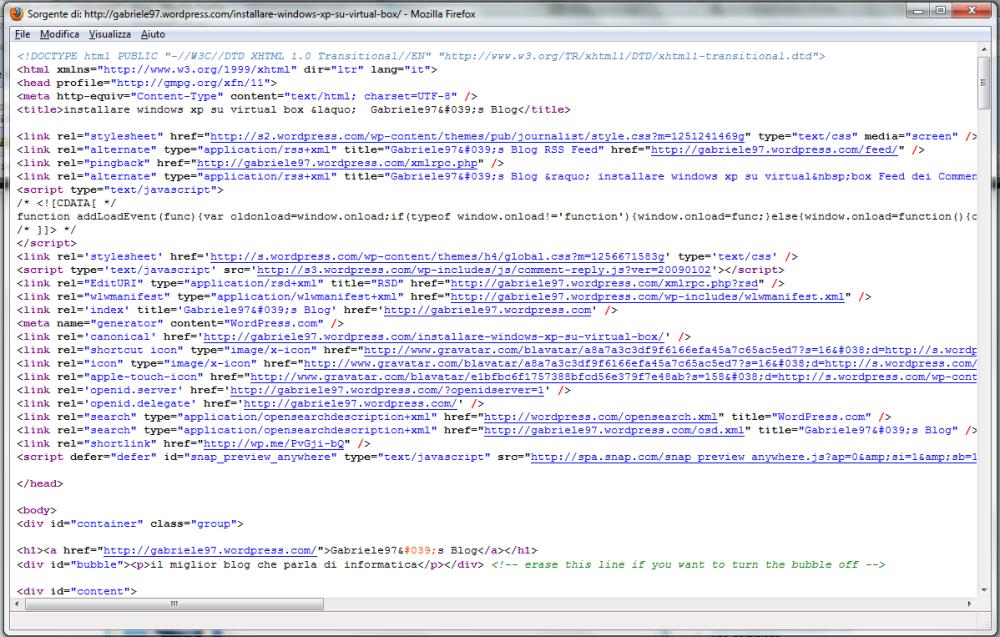 vedere la sorgente HTML di una pagina Web (4/6)