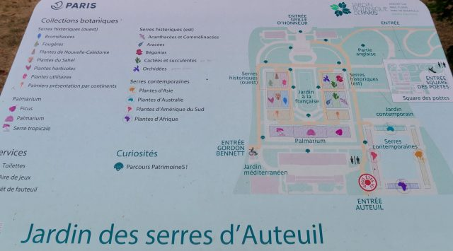 Paris Serres d'Auteuil Lageplan