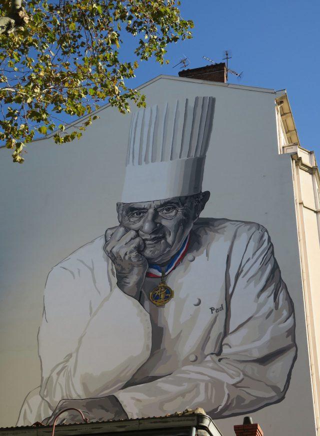Lyon Wandmalerei Paul Bocuse Les Halles