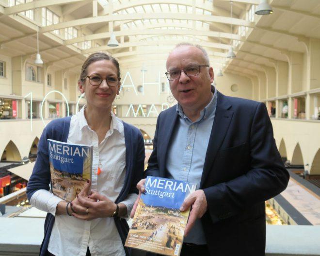 Heftredakteurin Tina Dippel und Chefredakteur Hansjörg Faöz