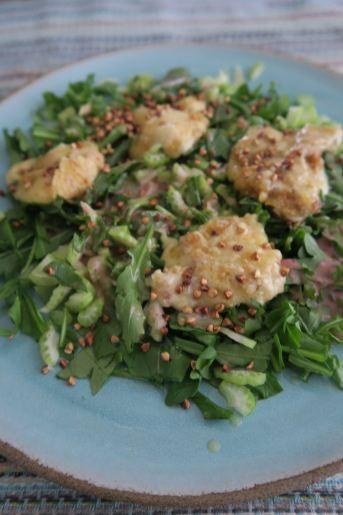 Salat mit Munster-Kaese