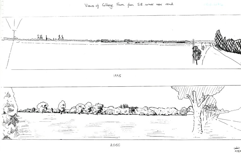 Panorama landscape sketches 1995