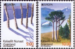 Greenland Europa stamps