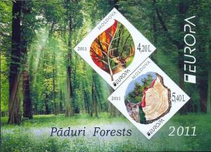 Modolva Europa stamps