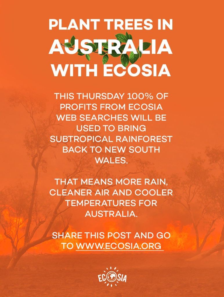 Click to read more about the Ecosia Australia campaign