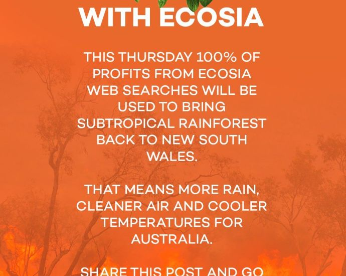 Plant trees in Australia with Ecosia