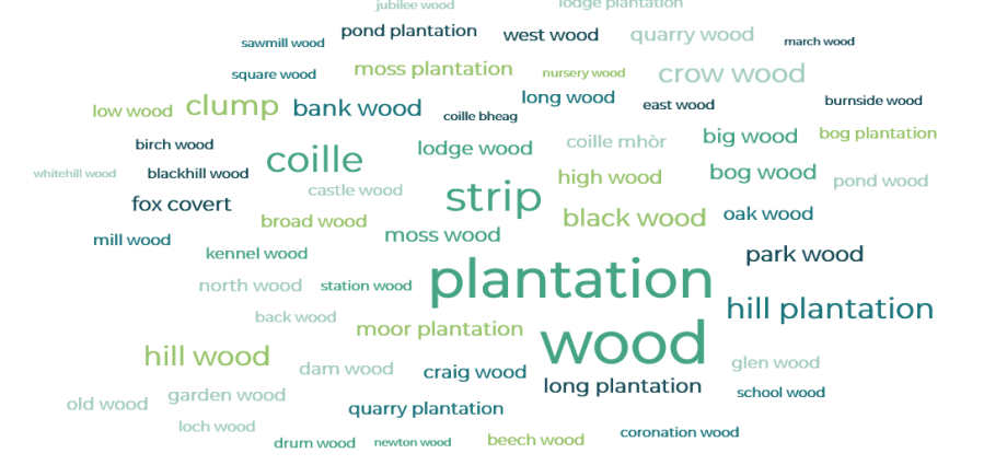 Woodland names of Britain