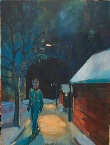 """Nattvandraren"" (Eller ""Keep the streets empty for me""), 60x80cm."