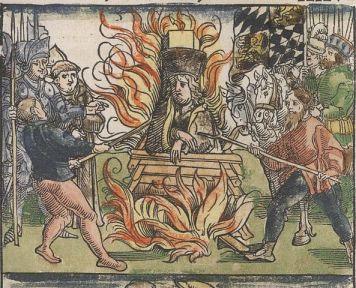 Il rogo di Jan Hus, 6 luglio 1415
