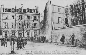 Exécution des généraux Clément-Thomas et Lecomte à Paris, 18 mars 1871