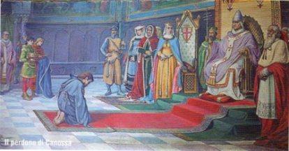 La sottomissione di Enrico IV a Canossa