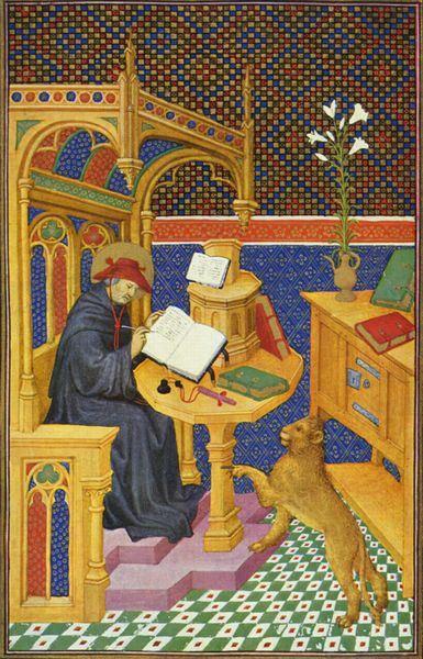 Meister des Maréchal de Boucicaut, San Girolamo. Pergamena, Musée Jacquemart André