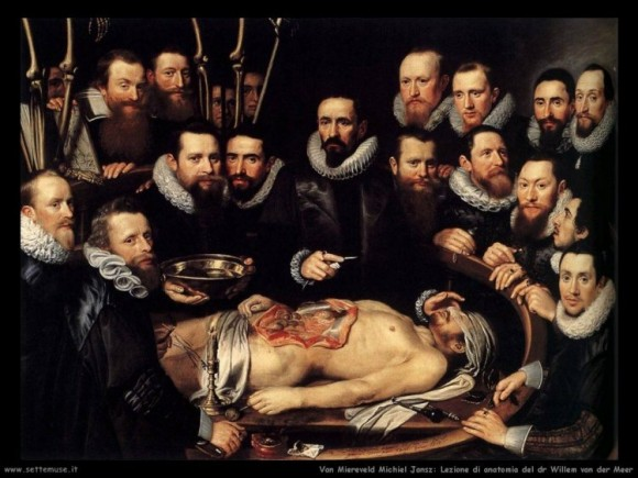 Van Miereweld, Lezione d'anatomia