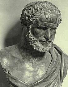 Busto di un greco sconosciuto identificato con Democrito o Eraclito