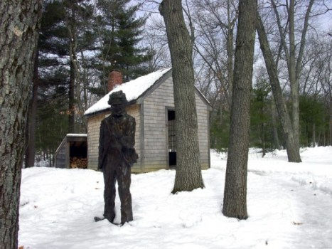Riproduzione della casa di Thoreau a Walden Pond