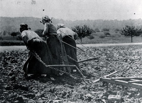 Contadine francesi durante la Grande guerra