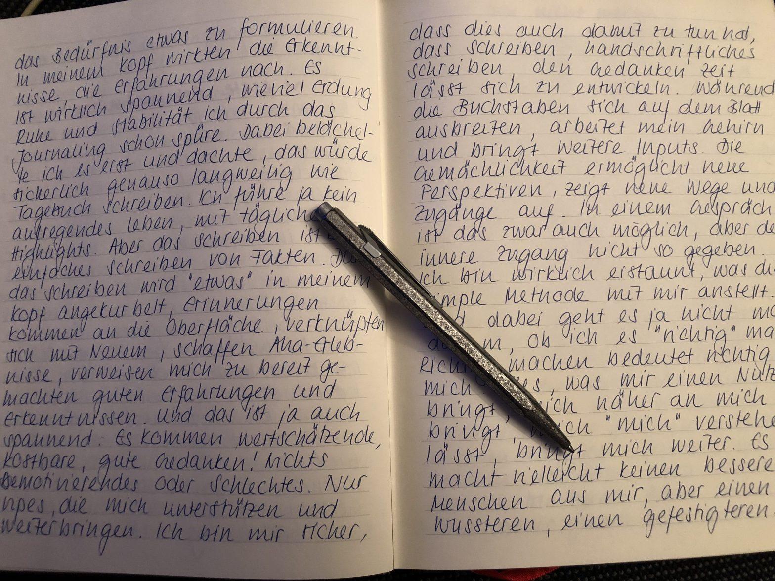 Journaling mit Caran d'Ache