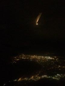 I took an evening flight from Toronto to Boston.