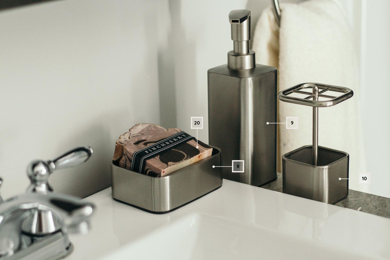 petite salle de bain - décoration - accessoire